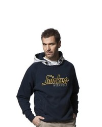Sweat à capuche bleu marine Snickers Workwear