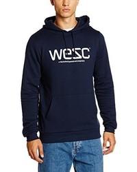 Sweat à capuche bleu marine Wesc