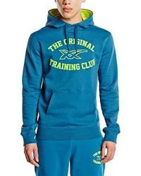 Sweat à capuche bleu Asics