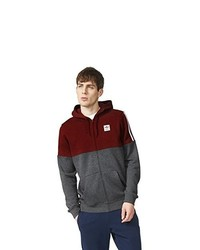 Sweat à capuche bordeaux adidas