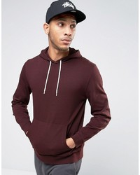 Sweat à capuche bordeaux Asos