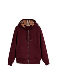 Sweat à capuche bordeaux Burberry