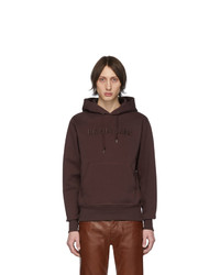 Sweat à capuche bordeaux Helmut Lang