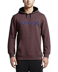 Sweat à capuche bordeaux Hurley