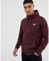 Sweat à capuche bordeaux Nike