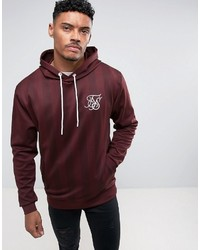 Sweat à capuche bordeaux Siksilk
