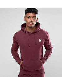 Sweat à capuche bordeaux
