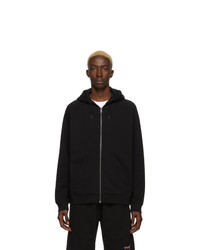 Sweat à capuche brodé noir Givenchy