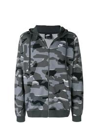 Sweat à capuche camouflage gris foncé Nike