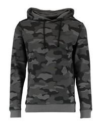 Sweat à capuche camouflage noir ONLY & SONS