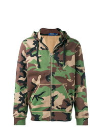 Sweat à capuche camouflage olive Polo Ralph Lauren