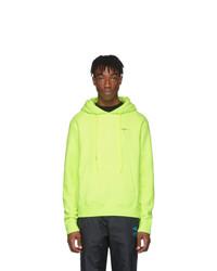 Sweat à capuche chartreuse Off-White