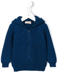 Sweat à capuche en tricot bleu marine