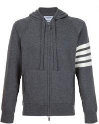Sweat à capuche en tricot gris foncé Thom Browne