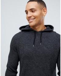 Sweat à capuche en tricot gris foncé Threadbare