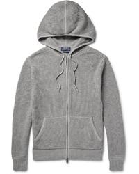 Sweat à capuche en tricot gris Polo Ralph Lauren