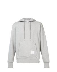 Sweat à capuche en tricot gris Thom Browne