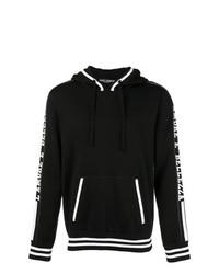 Sweat à capuche en tricot noir et blanc Dolce & Gabbana