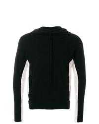 Sweat à capuche en tricot noir et blanc Unconditional