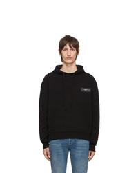Sweat à capuche en tricot noir Off-White
