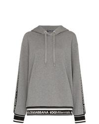 Sweat à capuche gris Dolce & Gabbana
