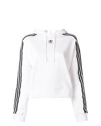 Sweat à capuche imprimé blanc et noir adidas