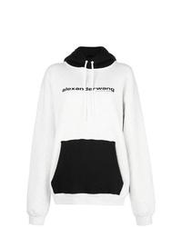 Sweat à capuche imprimé blanc et noir Alexander Wang