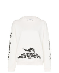 Sweat à capuche imprimé blanc et noir Givenchy
