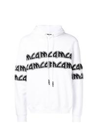 Sweat à capuche imprimé blanc et noir McQ Alexander McQueen