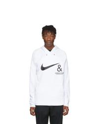 Sweat à capuche imprimé blanc et noir Nike