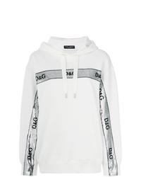 Sweat à capuche imprimé blanc Dolce & Gabbana