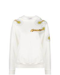 Sweat à capuche imprimé blanc Givenchy
