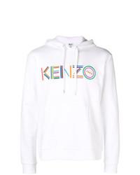 Sweat à capuche imprimé blanc Kenzo