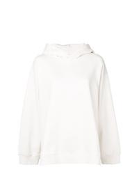 Sweat à capuche imprimé blanc MM6 MAISON MARGIELA