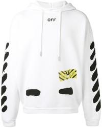 Sweat à capuche imprimé blanc Off-White