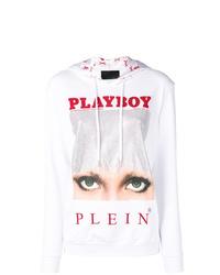 Sweat à capuche imprimé blanc Philipp Plein