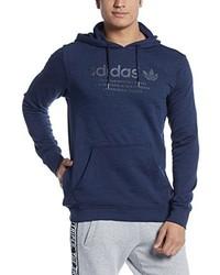 Sweat à capuche imprimé bleu marine adidas