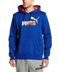 Sweat à capuche imprimé bleu Puma