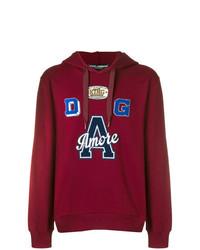 Sweat à capuche imprimé bordeaux Dolce & Gabbana