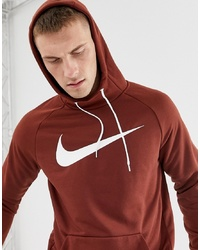 Sweat à capuche imprimé bordeaux Nike Training