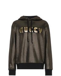 Sweat à capuche imprimé doré Gucci