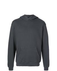 Sweat à capuche imprimé gris foncé RtA