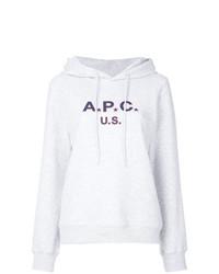Sweat à capuche imprimé gris A.P.C.