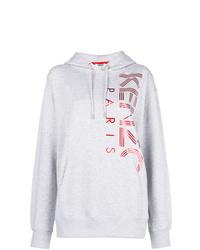 Sweat à capuche imprimé gris Kenzo