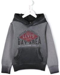 Sweat à capuche imprimé gris Levi's