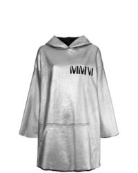 Sweat à capuche imprimé gris MM6 MAISON MARGIELA