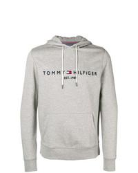 Sweat à capuche imprimé gris Tommy Hilfiger