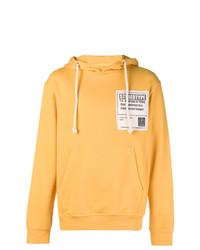 Sweat à capuche imprimé jaune Maison Margiela