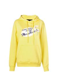 Sweat à capuche imprimé jaune Marc Jacobs