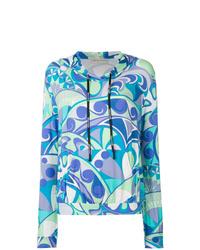 Sweat à capuche imprimé multicolore Emilio Pucci